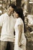 Couples heureux asiatiques Photo libre de droits