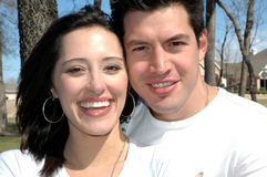Couples heureux attrayants Photographie stock