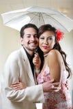Couples heureux d'été Images libres de droits