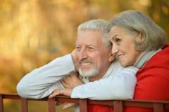 Couples heureux d'aîné d'ajustement Photographie stock