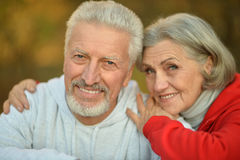Couples heureux d'aîné d'ajustement Photographie stock libre de droits