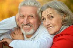 Couples heureux d'aîné d'ajustement Image libre de droits