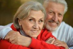 Couples heureux d'aîné d'ajustement Image stock