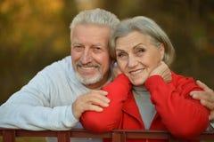 Couples heureux d'aîné d'ajustement Photo stock