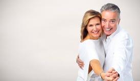Couples heureux d'aîné de danse Photographie stock libre de droits