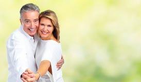 Couples heureux d'aîné de danse Photographie stock