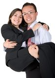 Couples heureux d'affaires Photo stock