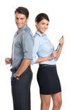 Couples heureux d'affaires Images libres de droits