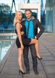 Couples heureux d'affaires Images stock