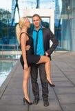 Couples heureux d'affaires Photographie stock