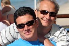 Couples heureux d'hommes Images libres de droits