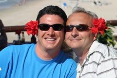 Couples heureux d'hommes Photo libre de droits