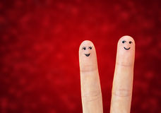 Couples heureux dans l'amour photos libres de droits