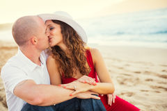 Couples heureux dans l'amour Image stock