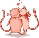 Couples heureux de chats Photographie stock libre de droits