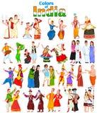 Couples heureux de différents états d'Inde Photos libres de droits