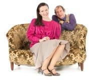 Couples heureux de kitsch Photographie stock