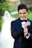 Couples heureux de mariage Photographie stock libre de droits