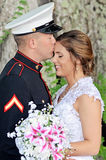 Couples heureux de mariage Photos stock