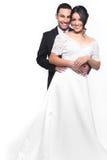 Couples heureux de mariage dans l'amour Photo libre de droits