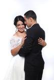 Couples heureux de mariage dans l'amour Image libre de droits