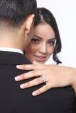 Couples heureux de mariage dans l'amour Images libres de droits