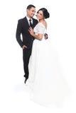 Couples heureux de mariage dans l'amour Photos stock