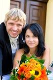 Couples heureux de mariage dans l'amour Photo stock