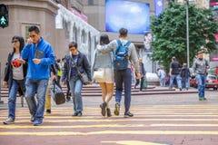 Couples heureux de Times Square Photos stock