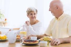 Couples heureux des aînés Images libres de droits