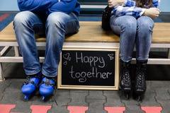 Couples heureux des jeunes Image stock