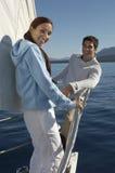 Couples heureux des vacances Image libre de droits