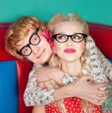 Couples heureux drôles photo stock