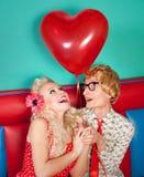 Couples heureux drôles Image libre de droits