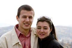 Couples heureux et jeunes Photos stock