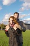 Couples heureux extérieurs dans l'amour, musée Plein, CCB d'Amsterdam Photographie stock