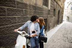 Couples heureux italiens Images stock
