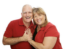 Couples heureux Laughig Image stock