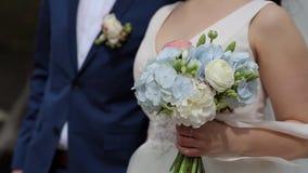 Couples heureux, mariage, jour du mariage banque de vidéos