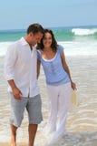 Couples heureux sur une lune de miel Images libres de droits
