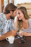 Couples heureux une date Photographie stock libre de droits