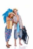 Couples heureux, vacances Photo stock