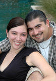 Couples hispaniques de sourire Images libres de droits