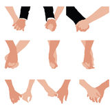 Couples holding hands Stock Images