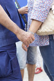 Couples holding hands Royalty Free Stock Images