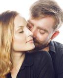 Couples, homme et femme tendres de jeunes dans l'amour Photographie stock libre de droits