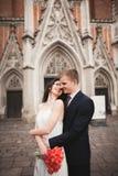 Couples, homme, fille s'asseyant en café souriant et baisers de mariage Photos stock