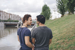 Couples homosexuels Photographie stock libre de droits