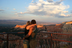 Couples Hugging each Other. Lovers at Bryce National Park stock image
