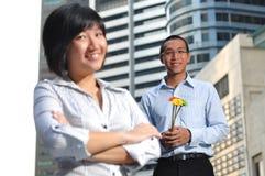 Couples intelligents de cadre d'entreprise photo stock